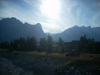 Canadian Rockies backdrop