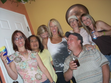 Party with friend in Canmore