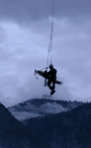 2009- Jack hanging from side of my gurney 100ft below rescue helicopter