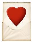Heart in letter