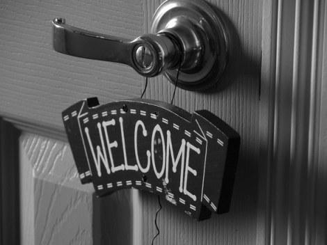 welcome at door