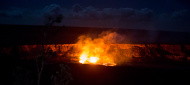 caldera at Kilauea Lava Eruption, Volcano National Park