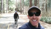 Paul on bike, my cousin Ryan